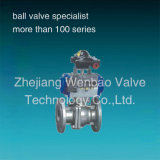 Investition Casting 2PC Flange Ball Valve mit Actuator