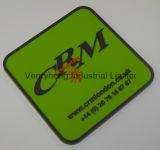 Todas as cores do logotipo em relevo Coaster Coloque almofada quente Mat-russa de vinho de cerveja Cafe Cup