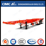 Cimc Huajun 40FT 2axle Skeleton Container Semi-Trailer con Platform