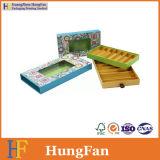Tiroir de carton d'emballage de chocolat de modèle de mode glissant le cadre de papier