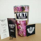 30oz colorido coloca o Yeti inoxidável de Camo das canecas do Thermos do café dos carros de aço de grande capacidade dos copos do Rambler do Tumbler