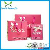 Bolsa de regalo de papel plástico al por mayor populares de compras de papel bolsa de regalo