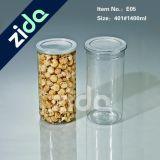 Alimentos transparente sellada plástico tarros al por mayor botella de empaquetado de té Galletas Postre Snacks Jar Botella