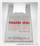 プラスチックHDPEの習慣によって印刷されるTシャツ袋の一重項袋