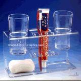 Support acrylique de brosse à dents d'espace libre fait sur commande de qualité