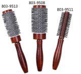 Le Baril en aluminium brosse à cheveux en nylon