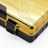 Shell van Lubinski het Gouden ABS Gevormde Plastic Gouden Geval van de Houder van Humidor van de Reis van de Sigaar (S-eb-028)