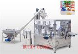 Empaquetadora rotatoria automática de leche en polvo para el bolso de la cremallera