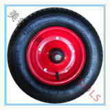 4.00-8 플라스틱 변죽을%s 가진 압축 공기를 넣은 고무 작은 배 바퀴