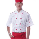 OEM Polyester e Cotton Chef Coat Uniform, Kitchen Chef Uniform