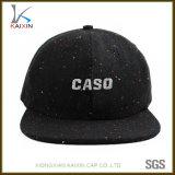 6 Panel Cáñamo Hat Snapback bordado la tapa con la correa de cuero