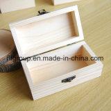 Casella di legno naturale di immagazzinamento in la scatola di il tè di alta qualità su ordinazione