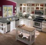 Gabinete de cozinha branco #2012-45 da madeira contínua de China do projeto novo