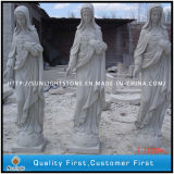 White Marble Carving Rules/Sculpture for Outdoor Garden
