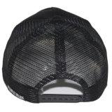Chapéu preto feito sob encomenda do tampão do engranzamento do camionista da correção de programa do bordado