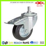 wiel van de Bever van 75mm het Zwarte Rubber Industriële (L110-11D075X25)