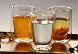 творческая двойная чашка чая кружки кофеего выпивая стекла стены 300ml