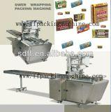 Máquina completa Tipo de sobre la galleta de envolver plegado-X automático