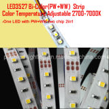 3527 2en1 réglable CCT Bande LED blanc double CW/WW