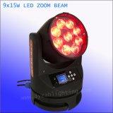 전문가 9X15W 4in1 세척 광속 급상승 LED 이동하는 맨 위 선잠기 점화
