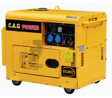 Einphasiges Wechselstrom 6kw/6kVA/6000watt beruhigen elektrischen Dieselgenerator