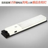 Luz de gabinete LED recarregável com sensor de movimento