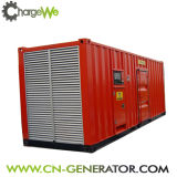 세륨 /ISO 12V190 디젤 엔진을%s 가진 저잡음 1MW 콘테이너 유형 디젤 엔진 Genset