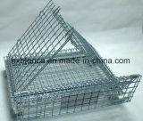 Gaiola de armazenamento empilhável de carga de metal dobrável