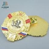 ベストセラーの工場昇進のカスタム金属のロシアの金の警察は記章を付ける