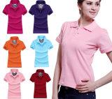 Lo Short normale personalizzato del piquè collega la camicia con un manicotto di polo delle donne differenti di colori