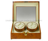 Top Quality Four Watches Winder in Burl Wood Finish