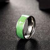 De westelijke Populaire Engelse Dwars Groene Mensen Ring&#160 van het Roestvrij staal van de Vorm;