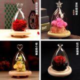Kundenspezifischer hoher Borosilicat-Glasdeckel-Glas-Vase