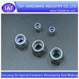 A2-70 DIN985 de nylon Uno mismo-Insertan tuercas que bloquean (con el anillo azul)