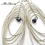 幾何学のイヤリングをぶら下げる女性の方法宝石類の珠玉のための長い低下イヤリング