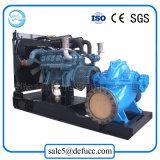 Bomba de agua de gran capacidad de la succión doble con el equipo del motor diesel