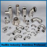 ミラー及び汚れによって扱われるステンレス鋼のシャワー室の調節可能な円形の管の管ガラスのコネクター