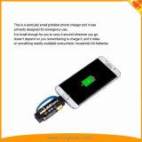 Il più piccolo caricatore Emergency del telefono mobile del mondo per il iPhone, telefoni Android