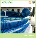 PVC de plástico flexible reforzado con espiral Polvo Agua Manguera de succión de tuberías