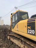 Excavador japonés usado muy bueno caliente KOMATSU PC220-7 (material de la correa eslabonada hidráulica de las condiciones de trabajo de KOMATSU de la venta de construcción) para la venta