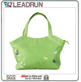 Sac à provisions non-tissé de main de toile de coton de cuir de sac à provisions de sac à dos (X020)