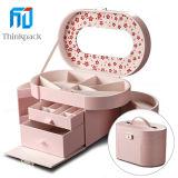 Multifunción Pink Oval Joyero con Espejo