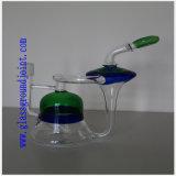 Tubo de água de vidro de cachimbo com juntas de terra para fumar