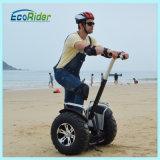Bicicleta elétrica de duas rodas chegadas da cruzada da praia