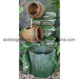De nieuwe Fontein van het Water Polystone van de Tuin van de Emmer van Drie Laag van het Ontwerp Modieuze Creatieve Openlucht Decoratieve met LEIDEN Licht