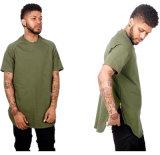 Vêtements de coton en coton vierges populaires avec chemise à glissière pour hommes