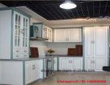2017台所家具の白の安い価格PVC食器棚