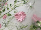 De Stof van het Kant van het Borduurwerk van de bloem voor de Kleren van het Meisje