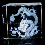 Dragón cristalino 3D