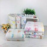 100% manta lavable impresa algodón de la muselina de la gasa del bebé